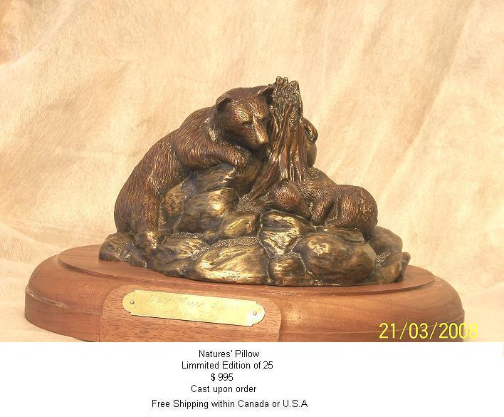 Bronze sculptures original art hand crafted by wolf creek